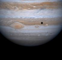 5. Jupiter, Io, and Io's shadow, December 12, 2000. Photo Credit: Cassini-Huygens Mission (http://saturn.jpl.nasa.gov), December 12, 2000; National Aeronautics and Space Administration (NASA, http://www.nasa.gov)/Jet Propulsion Laboratory (JPL, http://www.jpl.nasa.gov)/University of Arizona, United States of America.