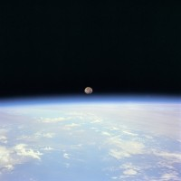 6. Moon set over the Earth, July 14, 1995. Photo Credit: Johnson Space Center, July 14, 1995; GRIN (http://grin.hq.nasa.gov) Database Number: GPN-2000-001046, National Aeronautics and Space Administration (NASA, http://www.nasa.gov), Government of the United States of America.