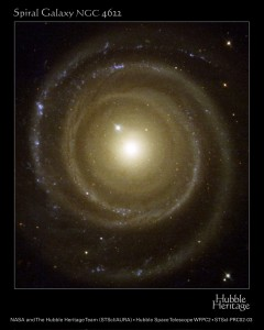 3. Galaxy NGC 4622. Photo Credit: May 2001, Earth-orbiting Hubble Space Telescope (HST), Hubble Heritage Team (STScI/AURA); Goddard Space Flight Center (GSFC, http://www.gsfc.nasa.gov, GL-2002-001138), National Aeronautics and Space Administration (NASA, http://www.nasa.gov), Government of the United States of America (USA); Acknowledgment: Dr. Ron Buta (University of Alabama, USA), Dr. Gene Byrd (University of Alabama, USA) and Tarsh Freeman (Bevill State Community College, USA)