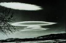 5. Altocumulus Lenticularis, February 21, 1940, Fort Collins, State of Colorado, USA. Photo Credit: Mr. Maxwell Parshall, National Oceanic and Atmospheric Administration Photo Library (http://www.photolib.noaa.gov), Historic NWS (National Weather Service) Collection, National Oceanic and Atmospheric Administration (NOAA, http://www.noaa.gov), United States Department of Commerce (http://www.commerce.gov), Government of the United States of America (USA).