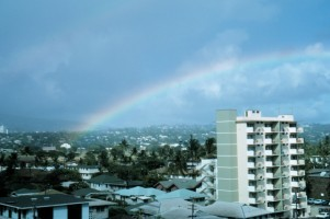 2. A Rainbow over the City of Honolulu, Oahu, State of Hawaii, USA. Photo Credit: Dr. James P. McVey, NOAA Sea Grant Program, National Oceanic and Atmospheric Administration Photo Library (http://www.photolib.noaa.gov), America's Coastlines Collection, National Oceanic and Atmospheric Administration (NOAA, http://www.noaa.gov), United States Department of Commerce (http://www.commerce.gov), Government of the United States of America (USA).