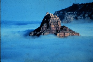 3. A Rocky Peak Rises From a Sea of Fog in an Arizona Valley, State of Arizona, USA. Photo Credit: National Oceanic and Atmospheric Administration Photo Library (http://www.photolib.noaa.gov), Historic NWS (National Weather Service) Collection, National Oceanic and Atmospheric Administration (NOAA, http://www.noaa.gov), United States Department of Commerce (http://www.commerce.gov), Government of the United States of America (USA).