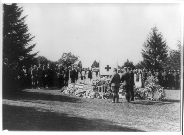 Scene at the grave of Miss Jane Arminda Delano (1862-1919), Late Director of the Nurse Corps of the National Red Cross, Arlington National Cemetery, Commonwealth of Virginia, USA. Photo Credit: Delano, Jane Arminda, 1862-1919--Death & burial (Card #: 96509699, Reproduction Number: LC-USZ62-91973, Digital ID: 3b38303, http://hdl.loc.gov/loc.pnp/cph.3b38303), Prints and Photographs Online Catalog (PPOC, http://www.loc.gov/rr/print/catalog.html), Prints & Photographs Reading Room, National Photo Company Collection, The Library of Congress (LOC, http://www.loc.gov), Congress of the United States (http://www.House.gov and http://www.Senate.gov), Government of the United States of America (USA).