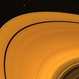 2. Prometheus (at top) August 23, 1981. Pandora (outside) and Prometheus (inside), the Shepherd Moons of Saturn's F-Ring. Photo Credit: Voyager Mission (http://voyager.jpl.nasa.gov), Voyager 2, August 23, 1981; National Aeronautics and Space Administration (NASA, http://www.nasa.gov)/Jet Propulsion Laboratory (JPL, http://www.jpl.nasa.gov), Government of the United States of America.