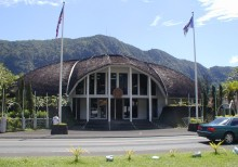"1. The Maota Fono, Legislature of American Samoa Building Complex. Pago Pago, American Somoa (USA). Photo Credit: ""American Samoa Observatory, Trip to Tula"", Samoa Observatory Cape Matatula, American Samoa (http://www.cmdl.noaa.gov/obop/smo), Climate Monitoring and Diagnostics Laboratory (http://www.cmdl.noaa.gov), National Oceanic and Atmospheric Administration (NOAA, http://www.noaa.gov), United States Department of Commerce (http://www.commerce.gov), Government of the United States of America (USA)."