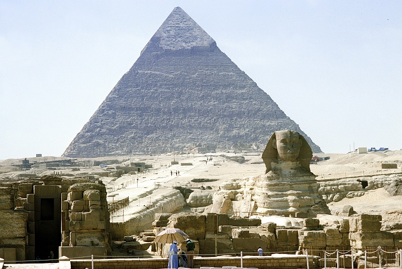 5. The Great Sphinx of Giza and One of The Great Pyramids, Jumhuriyat Misr al-Arabiyah - Arab Republic of Egypt. Photo Credit: Defense Visual Information Center (DVIC, http://www.DoDMedia.osd.mil, DF-ST-99-05286), United States Department of Defense (DoD, http://www.DefenseLink.mil or http://www.dod.gov), Government of the United States of America (USA).