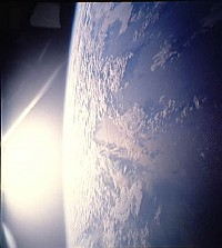 """2. The Daily Sunrise over the Pacific Ocean as Seen from Outer Space. Photo Credit: Pacific Ocean, Sunrise, Clouds. Sciences and Image Analysis, NASA-Johnson Space Center. 8 December 2003. """"Astronaut Photography of Earth - Quick View."""" <http://eol.jsc.nasa.gov/scripts/sseop/QuickView.pl?directory=ISD&ID=STS039-602-26>; National Aeronautics and Space Administration (NASA, http://www.nasa.gov), Government of the United States of America (USA)."""