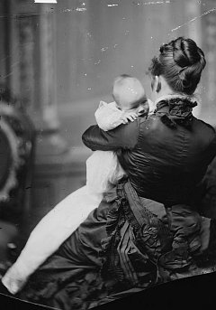 "1. Mrs. Nellie Grant Sartoris with baby Princess Cantacuzene, between 1870 and 1880. Sartoris, Mrs. (Nellie Grant) with baby."" (Card #: brh2003000371/PP, Reproduction Number: LC-DIG-cwpbh-03716, Digital ID: cwpbh 03716, http://hdl.loc.gov/loc.pnp/cwpbh.03716), Prints and Photographs Online Catalog (PPOC, http://www.loc.gov/rr/print/catalog.html), Prints & Photographs Reading Room, Brady-Handy Photograph Collection, The Library of Congress (LOC, http://www.loc.gov), Congress of the United States (http://www.House.gov and http://www.Senate.gov), Government of the United States of America (USA)."