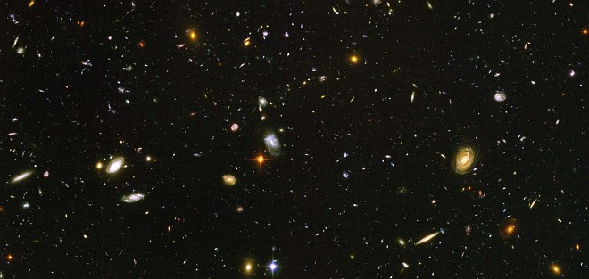 Nearly 10,000 Galaxies of Various Shapes, Sizes, and Colors are Revealed in this Hubble Ultra Deep Field Snapshot Taken Between September 24, 2003 and January 16, 2004 by NASA's Earth-orbiting Hubble Space Telescope. Photo Credit: Hubble Sees Galaxies Galore, March 9, 2004, STScI-PRC2004-07a, NASA's Earth-orbiting Hubble Space Telescope; European Space Agency (ESA, http://www.esa.int), Hubble Ultra Deep Field Team (HUDF), S. Beckwith (STScI, http://www.stsci.edu/), National Aeronautics and Space Administration (NASA, http://www.nasa.gov), Government of the United States of America (USA).