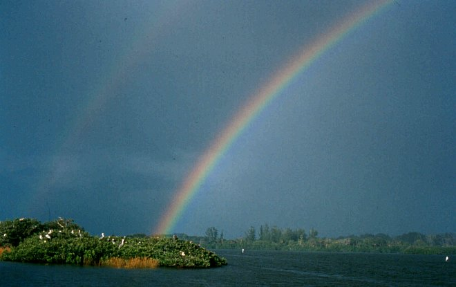 Double Rainbow over Pelican Island National Wildlife Refuge, State of Florida, USA. Photo Credit: Pelican Island National Wildlife Refuge (http://PelicanIsland.fws.gov), Photographs of Pelican Island National Wildlife Refuge (http://PelicanIsland.fws.gov/PhotoGallery/index.htm, Double Rainbow), United States Fish and Wildlife Service (FWS, http://www.fws.gov), United States Department of the Interior (http://www.doi.gov), Government of the United States of America (USA).