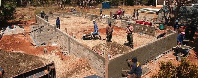 Building Construction at the Manuel Memorial Elementary School, February 19, 2004. Puerto Princesa, Palawan, Republika ng Pilipinas - Republic of the Philippines. Photo Credit: Photographer's Mate 2nd Class Felix Garza Jr., Navy NewsStand - Eye on the Fleet Photo Gallery (http://www.news.navy.mil/view_photos.asp, 040219-N-4142G-003), United States Navy (USN, http://www.navy.mil), United States Department of Defense (DoD, http://www.DefenseLink.mil or http://www.dod.gov), Government of the United States of America (USA).
