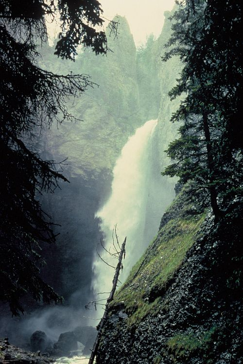 Tower Falls, Yellowstone National Park, State of Wyoming, USA. Photo Credit: Bruce Halstead, Washington DC Library, United States Fish and Wildlife Service Digital Library System (http://images.fws.gov, WO-3461-CD-42B), United States Fish and Wildlife Service (FWS, http://www.fws.gov), United States Department of the Interior (http://www.doi.gov), Government of the United States of America (USA).