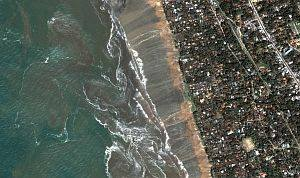 8. Kalutara Beach After the Tsunami, DigitalGlobe Satellite Photo, December 26, 2004, Democratic Socialist Republic of Sri Lanka. Photo Credit: DigitalGlobe (http://DigitalGlobe.com), Tsunami Media Gallery, QuickBird Images of Tsunami Sites (http://DigitalGlobe.com/tsunami_gallery.html), Sri Lanka, December 26, 2004, 'Kalutara Beach Detail' 'Receding waters and beach damage from tsunami'. DigitalGlobe Imagery Analysis: Tsunami Impact on Sri Lanka Tsunami Impact on Sri Lanka: DigitalGlobe's QuickBird Imagery, 26 December, 2004 <http://digitalglobe.com/images/tsunami/Sri_Lanka_Tsunami_Damage.pdf>.