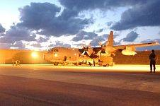 "10. United States Air Force (USAF) C-130 Hercules Loaded with Packaged Meals for Southeast Asia Prepares For Takeoff, December 29, 2004. Kadena Air Base, Japan. Photo Credit: Tech. Sgt. Richard Freeland, Air Force Link - Week in Photos, December 31, 2004 (http://www.af.mil/weekinphotos/041231-01.html, 041229-F-7194F-021, ""U.S. military team arrives to assess disaster relief efforts""), United States Air Force (USAF, http://www.af.mil), United States Department of Defense (DoD, http://www.DefenseLink.mil or http://www.dod.gov), Government of the United States of America (USA)."