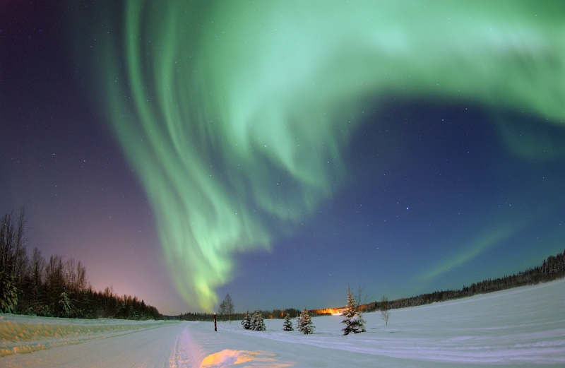1. Spectacular Green Aurora Borealis (Northern Lights) Above Bear Lake on January 18, 2005, Eielson Air Force Base, State of Alaska, USA. Photo Credit: Senior Airman Joshua Strang, United States Air Force; Defense Visual Information (DVI, http://www.DefenseImagery.mil, 050118-F-MS415-003, 050118-F-3488S-003, DFSD0744838, and DF-SD-07-44838) and United States Air Force (USAF, http://www.af.mil), United States Department of Defense (DoD, http://www.DefenseLink.mil or http://www.dod.gov), Government of the United States of America (USA).