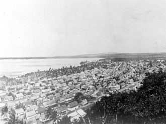 "1. Hagåtña (circa 1912), Territory of Guam, USA. Photo Credit: War in the Pacific National Historical Park (WAPA, http://www.npswapa.org), WAPA Gallery (http://www.npswapa.org/gallery, Guam, Pre-war Hagatna (Agana) and Asan, B1144agana.jpg), National Park Service (NPS, http://www.nps.gov), United States Department of the Interior (http://www.doi.gov), Government of the United States of America (USA). See also ""Agana from Santa Cruz"" <http://hdl.loc.gov/loc.pnp/cph.3d01892> from the Prints and Photographs Online Catalog, The Library of Congress, USA."