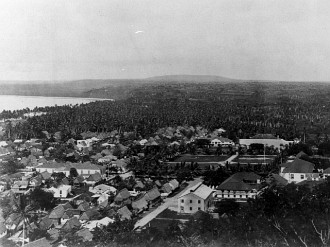 "2. Hagåtña (circa 1912), Territory of Guam, USA. Photo Credit: War in the Pacific National Historical Park (WAPA, http://www.npswapa.org), WAPA Gallery (http://www.npswapa.org/gallery, Guam, Pre-war Hagatna (Agana) and Asan, B1143agana.jpg), National Park Service (NPS, http://www.nps.gov), United States Department of the Interior (http://www.doi.gov), Government of the United States of America (USA). See also ""[Island of Guam. Portion of city of Agana from fort]"" <http://hdl.loc.gov/loc.pnp/cph.3d01893> from the Prints and Photographs Online Catalog, The Library of Congress, USA."