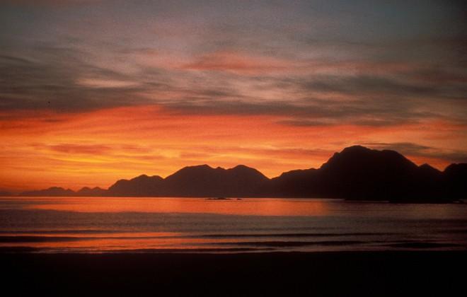 Beautiful Sunset at Kuluk Beach, Adak, Aleutian Islands, State of Alaska, USA. Photo Credit: J Logan, Alaska Image Library, United States Fish and Wildlife Service Digital Library System (http://images.fws.gov, AMNWR/0000420/Logan J), United States Fish and Wildlife Service (FWS, http://www.fws.gov), United States Department of the Interior (http://www.doi.gov), Government of the United States of America (USA).
