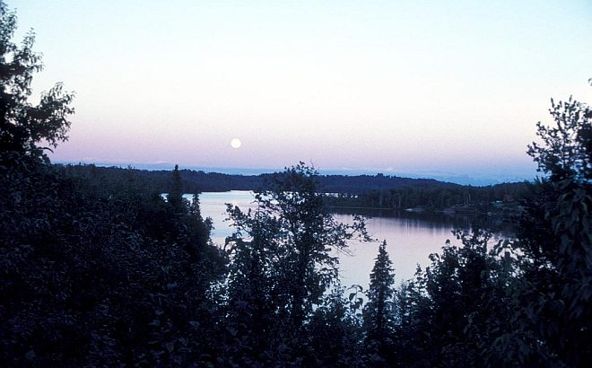 Full Moon - a Great Light and Ruler of the Night - over Nikiski Lake, State of Alaska, USA. Photo Credit: Alaska Image Library, United States Fish and Wildlife Service Digital Library System (http://images.fws.gov, AK/RO/02775), United States Fish and Wildlife Service (FWS, http://www.fws.gov), United States Department of the Interior (http://www.doi.gov), Government of the United States of America (USA).