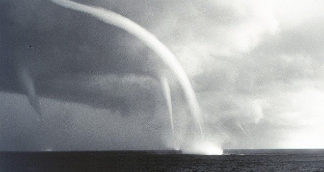1. Multiple Waterspouts Off The Bahamas. Photo Credit: Dr. Joseph Golden, NOAA; National Oceanic and Atmospheric Administration Photo Library (http://www.photolib.noaa.gov, wea00312), Historic NWS Collection, National Oceanic and Atmospheric Administration (NOAA, http://www.noaa.gov), United States Department of Commerce (http://www.commerce.gov), Government of the United States of America (USA).