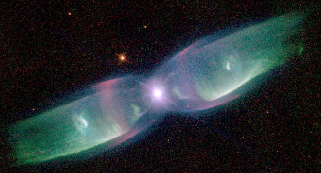 Bipolar or 'Butterfly' Planetary Nebula M2-9, the Twin Jet Nebula. Photo Credit: Hubble Sees Supersonic Exhaust from Nebula, August 2, 1997 (Released: December 17, 1997), STScI-1997-38, NASA's Earth-orbiting Hubble Space Telescope (http://HubbleSite.org); The Hubble Heritage Team (STScI/AURA), National Aeronautics and Space Administration (NASA, http://www.nasa.gov), Government of the United States of America (USA).