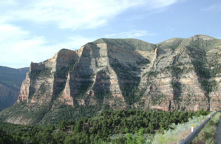 Scheer Cliffs, State of Utah, USA. Photo Credit: Robert Pos, Fisheries Biologist; Washington DC Library, United States Fish and Wildlife Service Digital Library System (http://images.fws.gov, WO- E 69), United States Fish and Wildlife Service (FWS, http://www.fws.gov), United States Department of the Interior (http://www.doi.gov), Government of the United States of America (USA).