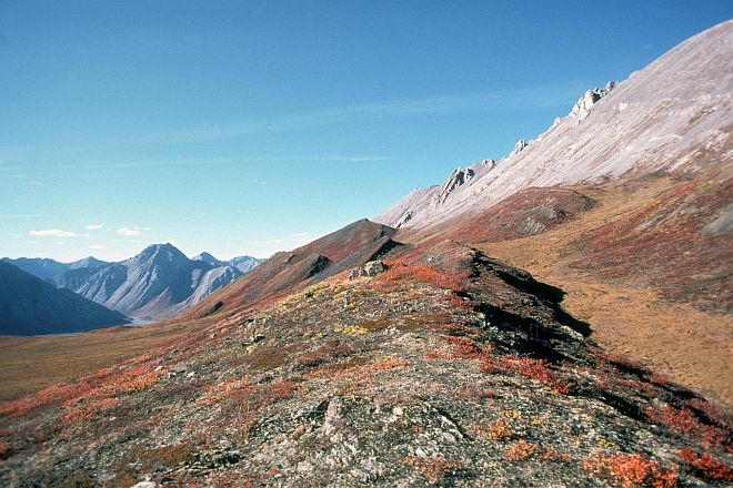Mountains in the Sheenjek River Area, Arctic National Wildlife Refuge, State of Alaska, USA. Photo Credit: Curby, Alaska Image Library, United States Fish and Wildlife Service Digital Library System (http://images.fws.gov, AR-0002), United States Fish and Wildlife Service (FWS, http://www.fws.gov), United States Department of the Interior (http://www.doi.gov), Government of the United States of America (USA).