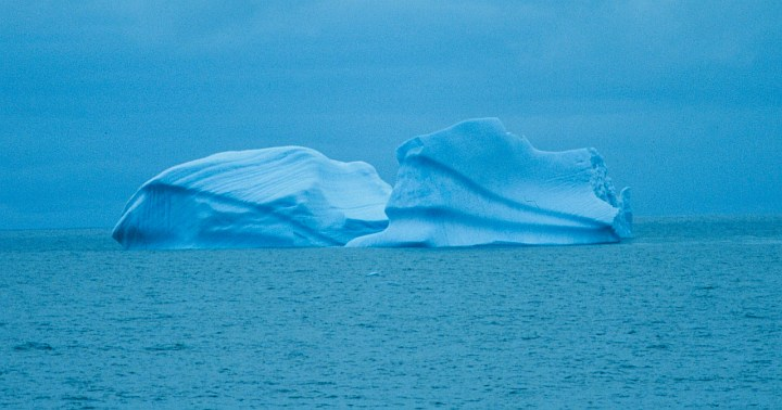 1. Contoured Iceberg Bathed in Shades of Blue, 1994-95 Austral Summer, Elephant Island, Antarctica. Photo Credit: Lieutenant Philip Hall, NOAA Corps; National Oceanic and Atmospheric Administration Photo Library (http://www.photolib.noaa.gov, corp2950), NOAA Corps Collection, National Oceanic and Atmospheric Administration (NOAA, http://www.noaa.gov), United States Department of Commerce (http://www.commerce.gov), Government of the United States of America (USA).