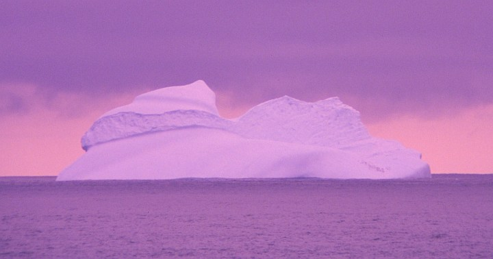 2. Shades of Purple Bathe This Unique Iceburg, 1994-95 Austral Summer, Elephant Island, Antarctica. Photo Credit: Lieutenant Philip Hall, NOAA Corps; National Oceanic and Atmospheric Administration Photo Library (http://www.photolib.noaa.gov, corp2950), NOAA Corps Collection, National Oceanic and Atmospheric Administration (NOAA, http://www.noaa.gov), United States Department of Commerce (http://www.commerce.gov), Government of the United States of America (USA).
