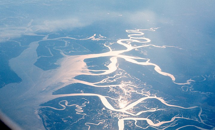 Scenic View of the Tidewater Streams of Charleston, South Carolina, USA, March 1970. Photo Credit: Ted Butts, National Oceanic and Atmospheric Administration Photo Library (http://www.photolib.noaa.gov, corp2260), NOAA Corps Collection, National Oceanic and Atmospheric Administration (NOAA, http://www.noaa.gov), United States Department of Commerce (http://www.commerce.gov), Government of the United States of America (USA).