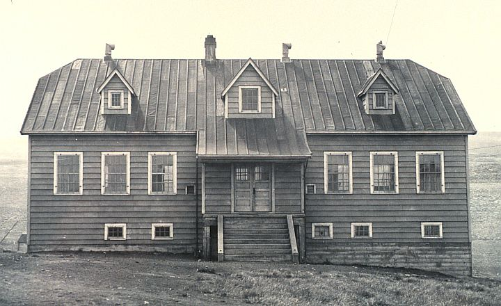 The School Building, a Center of Education, on St. Paul Island, Pribilof Islands, State of Alaska, USA. Photo Credit: National Marine Fisheries Service, June 1938; F&WS 10,071; National Oceanic and Atmospheric Administration Photo Library (http://www.photolib.noaa.gov, line1703), America's Coastlines Collection, National Oceanic and Atmospheric Administration (NOAA, http://www.noaa.gov), United States Department of Commerce (http://www.commerce.gov), Government of the United States of America (USA).