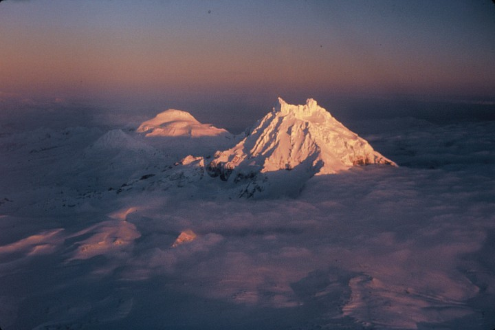 Sunset on the Peaks of Roundtop, Unimak Island, State of Alaska, USA. Photo Credit: John Sarvis, Washington DC Library, United States Fish and Wildlife Service Digital Library System (http://images.fws.gov, WO-3274-CD-43A), United States Fish and Wildlife Service (FWS, http://www.fws.gov), United States Department of the Interior (http://www.doi.gov), Government of the United States of America (USA).