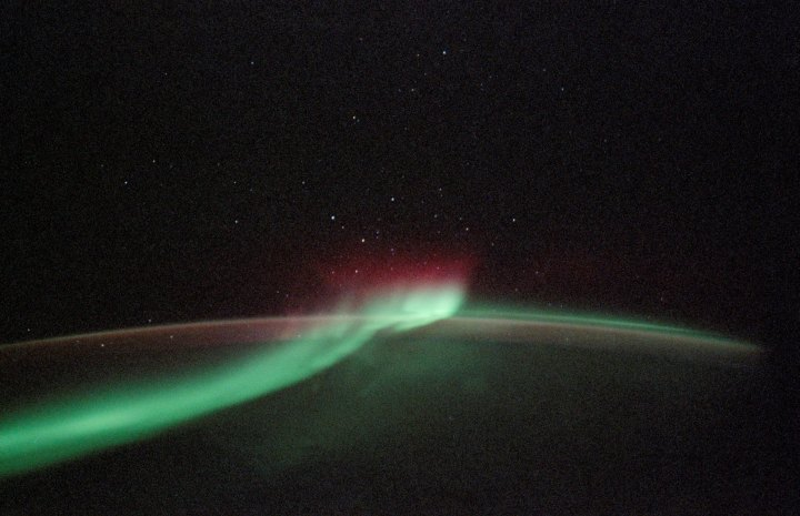 Green Ribbon of Light: Planet Earth's Aurora Australis, or Southern Lights, as Seen From Space Shuttle Discovery. Photo Credit: Return to Flight, STS-114 Mission: Space Shuttle Discovery, Multimedia - Photo Gallery: Return to Flight Top 35 Images (http://www.nasa.gov/returntoflight/multimedia/top30_page1.html), Photo ID: sts114-332-027, National Aeronautics and Space Administration (NASA, http://www.nasa.gov), Government of the United States of America.
