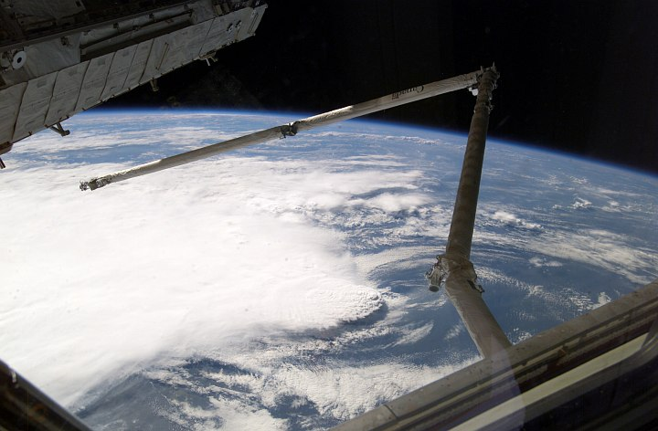 The Line of Thunderstorms on Planet Earth are Clearly Visible From the International Space Station. Photo Credit: Return to Flight, STS-114 Mission: Space Shuttle Discovery, Multimedia - Photo Gallery: Return to Flight Top 35 Images (http://www.nasa.gov/returntoflight/multimedia/top30_page1.html), Photo ID: ISS011E11416, National Aeronautics and Space Administration (NASA, http://www.nasa.gov), Government of the United States of America.