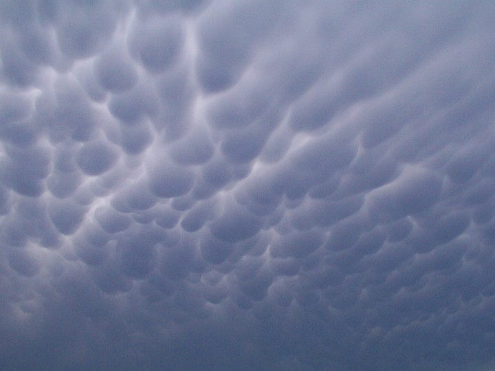 Mammatus or Mamma Clouds, July 4, 2001, State of Indiana, USA. Photo Credit: John Taylor, Northern Indiana NWSFO and National Weather Service Forecast Office North Indiana; National Oceanic and Atmospheric Administration Photo Library (http://www.photolib.noaa.gov, noaa6326), NOAA's Online World Collection, NOAA Central Library, National Oceanic and Atmospheric Administration (NOAA, http://www.noaa.gov), United States Department of Commerce (http://www.commerce.gov), Government of the United States of America (USA).