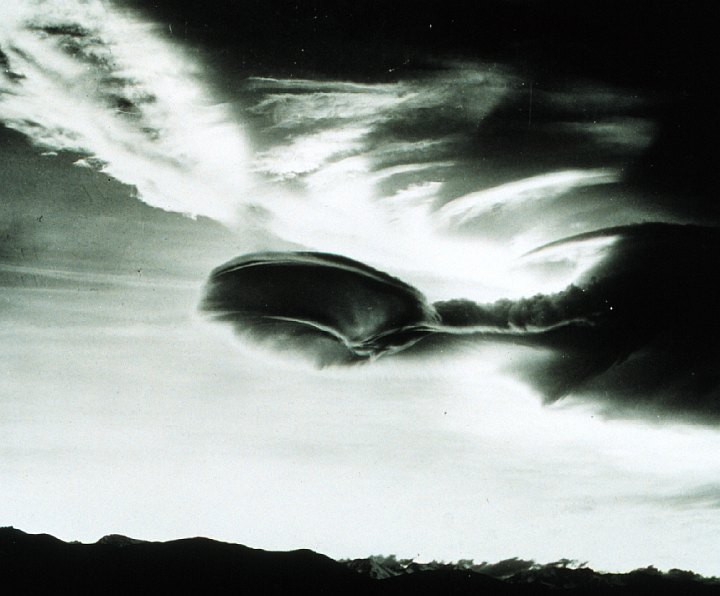 Cumulus Lenticularis, a Spectacular and Stunning Roll Cloud. Independence, State of California, USA. Photo Credit: Mr. Bob Bishop, National Oceanic and Atmospheric Administration Photo Library (http://www.photolib.noaa.gov, wea00008), Historic NWS Collection, NOAA Central Library, National Oceanic and Atmospheric Administration (NOAA, http://www.noaa.gov), United States Department of Commerce (http://www.commerce.gov), Government of the United States of America (USA).