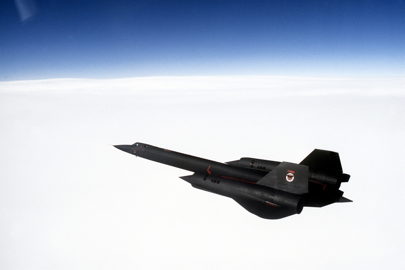 14. U.S. Air Force SR-71 Blackbird Reconnaissance Jet -- Blue Sky Above and a Solid Cloud Layer Below -- On a Mission Out of Beale Air Force Base, California. Photo Credit: Tech. Sgt. Michael Haggerty, United States Air Force; Defense Visual Information (DVI, http://www.DefenseImagery.mil, DF-ST-99-05063) and United States Air Force (USAF, http://www.af.mil), United States Department of Defense (DoD, http://www.DefenseLink.mil or http://www.dod.gov), Government of the United States of America (USA).