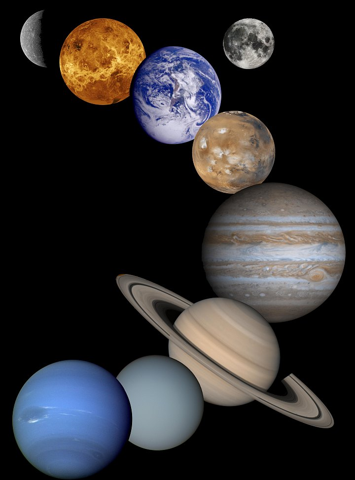 God Personally Created the Grand and Beautiful Celestial Objects in Our Solar System. Photo Credit: Solar System Montage (2001), Planetary Photojournal (http://photojournal.jpl.nasa.gov, PIA03153), National Aeronautics and Space Administration (NASA, http://www.nasa.gov)/Jet Propulsion Laboratory (JPL, http://www.jpl.nasa.gov), Government of the United States of America.