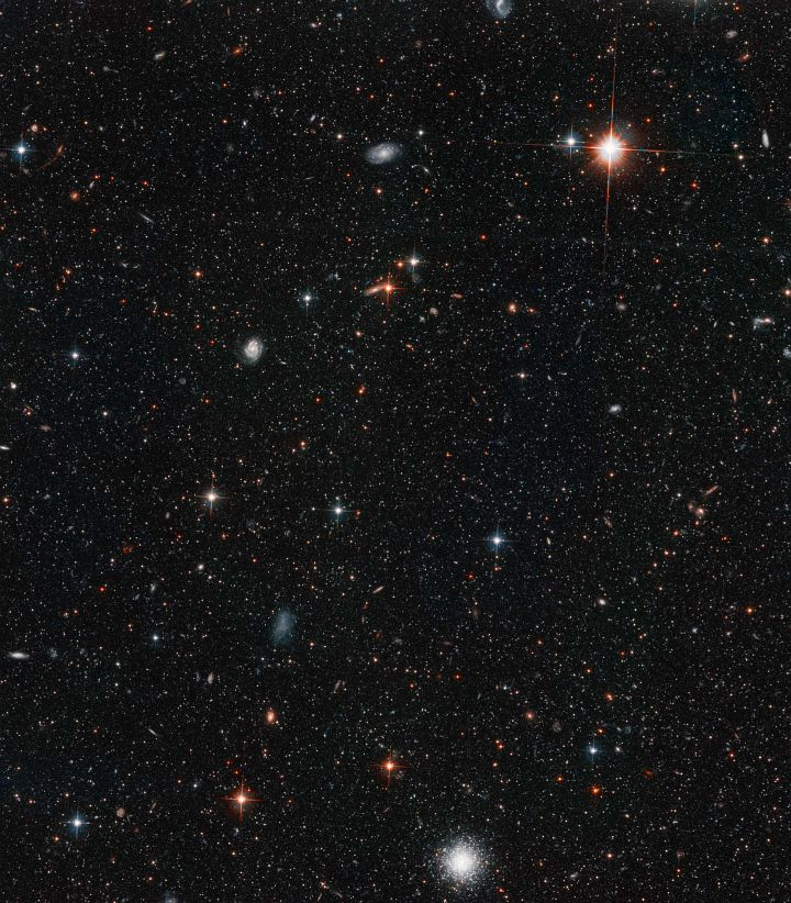 God Personally Created the Approximately Three Hundred Thousand (300,000) Stars -- and Several Galaxies -- That Are Visible in This Expansive, Awe-Inspiring View of the Halo -- a Cloud of Stars -- Surrounding the Andromeda Galaxy (M31 or NGC 224), the Nearest Neighboring Galaxy to the Milky Way Galaxy (Our Home Galaxy), Constellation Andromeda. Photo Credit: Young and Old Stars Found in Andromeda's Halo, December 2002 and January 2003 (Release date: May 7, 2003), STScI-2003-15, NASA's Earth-orbiting Hubble Space Telescope (http://HubbleSite.org); The Hubble Heritage Team (STScI/AURA), and T. M. Brown (STScI), National Aeronautics and Space Administration (NASA, http://www.nasa.gov), Government of the United States of America (USA).