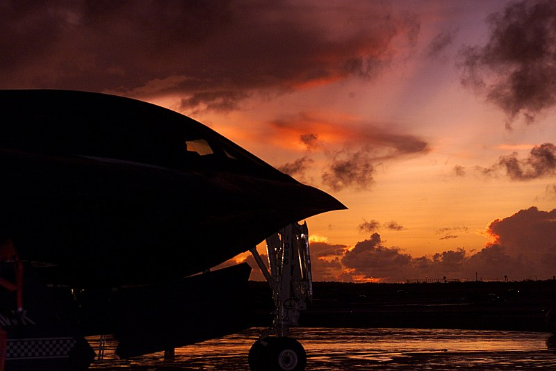 "Beautiful Sunset In the Pacific (Over the Philippine Sea), Andersen Air Force Base, Territory of Guam, USA. Photo Credit: Airman 1st Class Nick Martin, United States Air Force; Air Force Link - Week in Photos, September 26, 2003 (http://www.af.mil/weekinphotos/030926-05.html and http://www.af.mil/weekinphotos/wipgallery.asp?week=30, 030925-F-3488S-078, ""Spirit and the sky""), United States Air Force (USAF, http://www.af.mil), United States Department of Defense (DoD, http://www.DefenseLink.mil or http://www.dod.gov), Government of the United States of America (USA)."