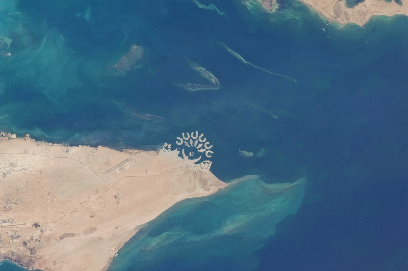 18. Durrat Al Bahrain, Mamlakat al Bahrayn - Kingdom of Bahrain, April 1, 2010 at 12:07:22 GMT, As Seen From the International Space Station (Expedition Twenty-Three). Photo Credit: NASA; ISS023-E-17545, International Space Station (Expedition 23); Image Science and Analysis Laboratory, NASA-Johnson Space Center. 'Astronaut Photography of Earth - Display Record.' <http://eol.jsc.nasa.gov/scripts/sseop/photo.pl?mission=ISS023&roll=E&frame=17545>; National Aeronautics and Space Administration (NASA, http://www.nasa.gov), Government of the United States of America (USA).