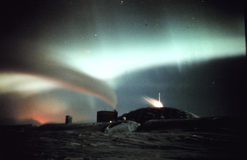 This Beautiful Curtain of Light -- the Aurora Australis -- Is a Wonder of Nature, Austral Fall and Winter 1979, South Pole Station, Antarctica. Photo Credit: Commander John Bortniak, NOAA Corps (ret.); National Oceanic and Atmospheric Administration Photo Library (http://www.photolib.noaa.gov, corp1642), NOAA Corps Collection, NOAA Central Library, National Oceanic and Atmospheric Administration (NOAA, http://www.noaa.gov), United States Department of Commerce (http://www.commerce.gov), Government of the United States of America (USA).