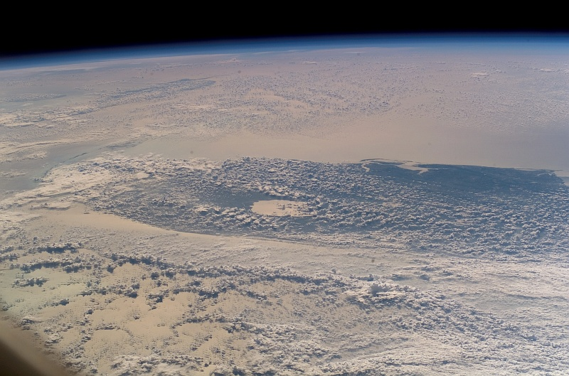 20. The Powerful Influence of Hurricane Noel: Heavy Cloud Clover Over the Atlantic Coast of Florida, USA, November 2, 2007, As Seen From Space Shuttle Discovery (STS-120). Photo Credit: STS-120 Shuttle Mission Imagery (http://spaceflight.nasa.gov/gallery/images/shuttle/sts-120/ndxpage1.html), S120-E-008224 (http://spaceflight.nasa.gov/gallery/images/shuttle/sts-120/html/s120e008224.html), NASA Human Space Flight (http://spaceflight.nasa.gov), National Aeronautics and Space Administration (NASA, http://www.nasa.gov), Government of the United States of America.