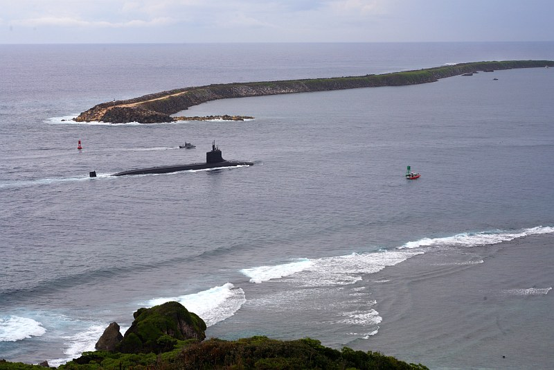 Apra Harbor, a Safe and Quiet Harbor Situated In the Powerful Philippine Sea, Located at Santa Rita, Territory of Guam, USA. Photo Credit: Mass Communication Specialist 2nd Class Edward N. Vasquez, Navy NewsStand - Eye on the Fleet Photo Gallery (http://www.news.navy.mil/view_photos.asp, 061019-N-9167V-050), United States Navy (USN, http://www.navy.mil), United States Department of Defense (DoD, http://www.DefenseLink.mil or http://www.dod.gov), Government of the United States of America (USA).