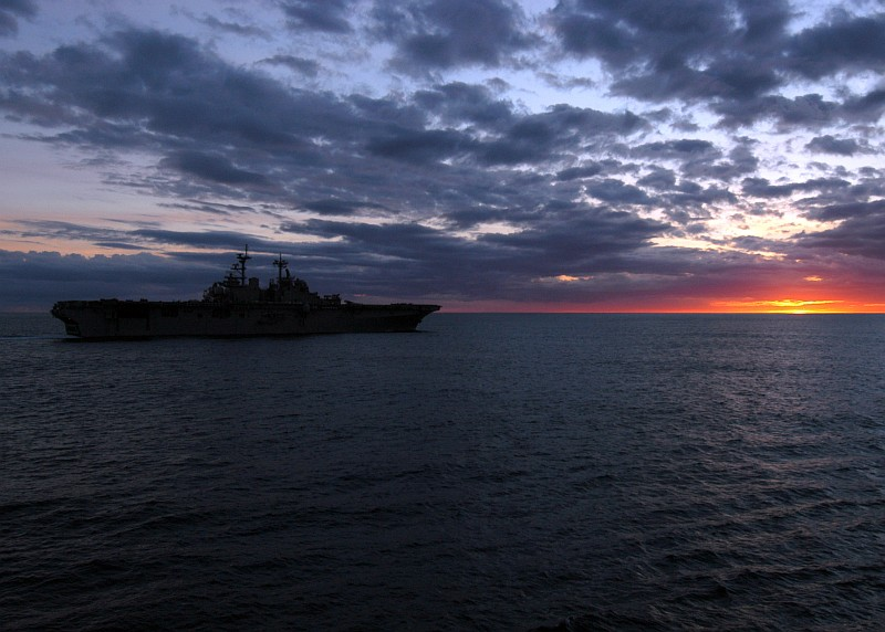 Sunset Over a Calm, Great Sea, November 30, 2006, Atlantic Ocean. Photo Credit: Mass Communication Specialist Seaman Bryant A. Kurowski, Navy NewsStand - Eye on the Fleet Photo Gallery (http://www.news.navy.mil/view_photos.asp, 061130-N-6282K-007), United States Navy (USN, http://www.navy.mil), United States Department of Defense (DoD, http://www.DefenseLink.mil or http://www.dod.gov), Government of the United States of America (USA).