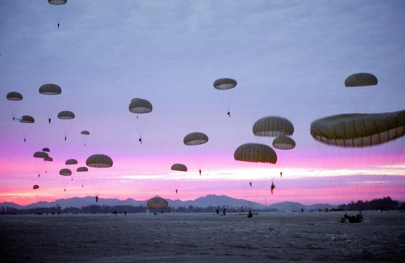 11. Sunset or Sunrise, September 14, 1980, Kwang Ju Air Base, Taehan-min'guk - Republic of Korea. Photo Credit: Tech. Sgt. Mike Daniels; Defense Visual Information Center (DVIC, http://www.DoDMedia.osd.mil, DFST8200591), United States Department of Defense (DoD, http://www.DefenseLink.mil or http://www.dod.gov), Government of the United States of America (USA).
