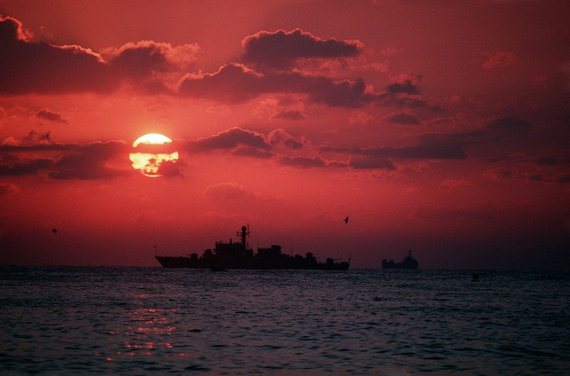 23. Sunset, September 1, 1989, Ratcha Anachak Thai - Kingdom of Thailand. Photo Credit: United States Navy (USN, http://www.navy.mil); Defense Visual Information Center (DVIC, http://www.DoDMedia.osd.mil, DNST9005478), United States Department of Defense (DoD, http://www.DefenseLink.mil or http://www.dod.gov), Government of the United States of America (USA).