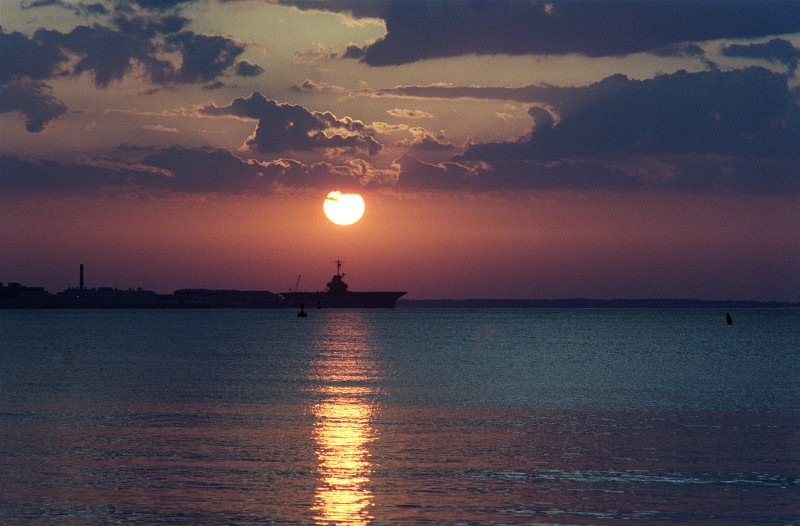 44. The Rising of the Sun, April 22, 1987, Pensacola, State of Florida, USA. Photo Credit: PHC Jeff Hilton, United States Navy (USN, http://www.navy.mil); Defense Visual Information Center (DVIC, http://www.DoDMedia.osd.mil, DNSC8705881) and United States Navy (USN, http://www.navy.mil), United States Department of Defense (DoD, http://www.DefenseLink.mil or http://www.dod.gov), Government of the United States of America (USA).