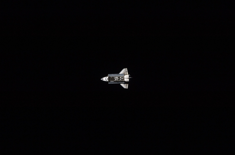 5. Space Shuttle Atlantis (STS-129), Against the Blackness of Space, Approaches Closer To the International Space Station, November 18, 2009, As Seen From the International Space Station (Expedition Twenty-One). Photo Credit: NASA; STS-129 Shuttle Mission Imagery (http://spaceflight.nasa.gov/gallery/images/shuttle/sts-129/ndxpage1.html), ISS021-E-030516 (http://spaceflight.nasa.gov/gallery/images/shuttle/sts-129/html/iss021e030516.html), NASA Human Space Flight (http://spaceflight.nasa.gov), National Aeronautics and Space Administration (NASA, http://www.nasa.gov), Government of the United States of America.