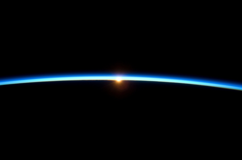 7. The Setting of the Sun and the Thin, Blue Atmosphere of Planet Earth, November 23, 2009, As Seen From the International Space Station (Expedition Twenty-One). Photo Credit: NASA; STS-129 Shuttle Mission Imagery (http://spaceflight.nasa.gov/gallery/images/shuttle/sts-129/ndxpage1.html), ISS021-E-031766 (http://spaceflight.nasa.gov/gallery/images/shuttle/sts-129/html/iss021e031766.html), NASA Human Space Flight (http://spaceflight.nasa.gov), National Aeronautics and Space Administration (NASA, http://www.nasa.gov), Government of the United States of America.
